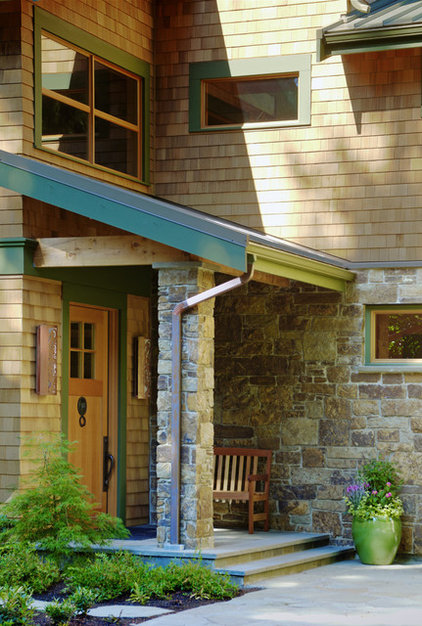 Rustic Entry by Patricia Brennan Architects