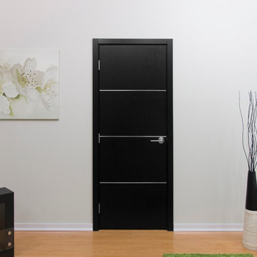 Nova Modern Interior doors by Brooklyn doors inc HG008  Black Ash