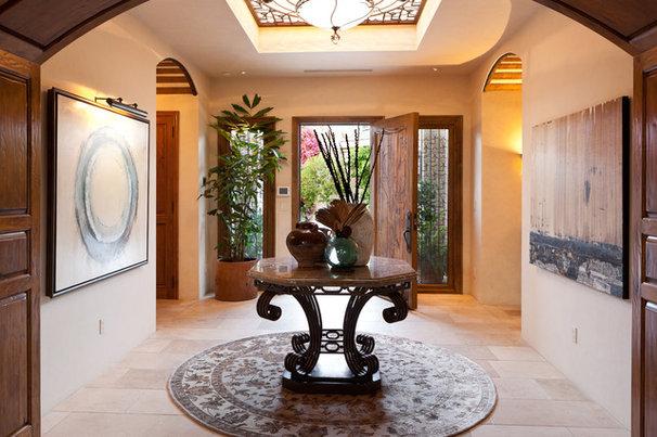 Mediterranean Entry by Denise Morrison Interiors