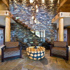 Rustic Entry by Sticks and Stones Design Group Inc