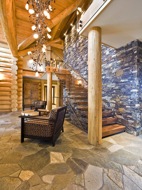 Log home living home design ideas pictures remodel and decor for Rustic cabin flooring