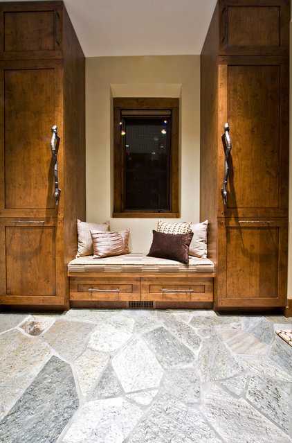 Eclectic Entry by Sticks and Stones Design Group Inc