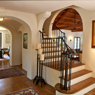 Old California Mission Style Staircase Foyer