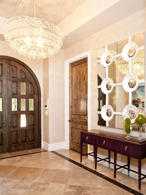 Stained doors with white trim houzz for Door design houzz