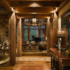 Rustic Entry by Locati Architects
