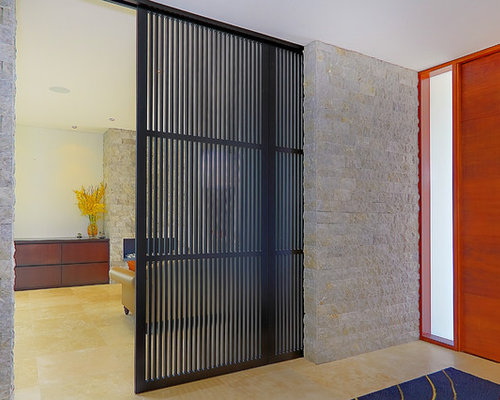 Inspiration for a contemporary entryway remodel in Sydney with a medium  wood front door - Sliding Room Divider Houzz