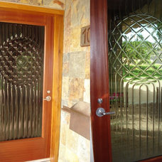 Contemporary Entry by Sculptural Glass Doors Inc