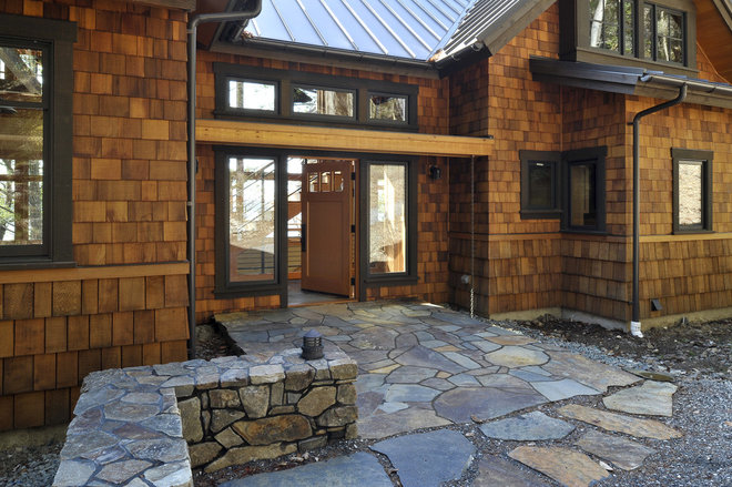 Rustic Entry by David Vandervort Architects