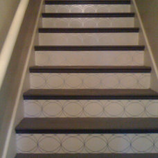 Traditional Entry painted stairs