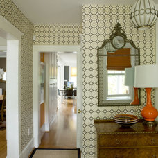 Eclectic Entry by Liz Levin Interiors
