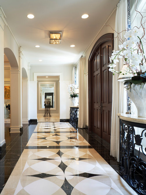 Entry Foyer Houzz : Entryway marble floor medallion houzz