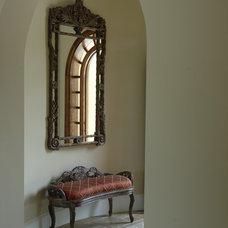 Mediterranean Entry by Benson & Associates, Interior Design