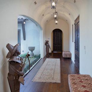 オースティンのサンタフェスタイルのおしゃれな玄関の写真