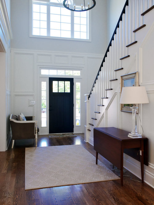 Houzz Two Story Foyer : White staircase houzz