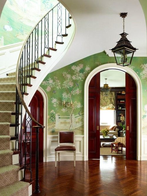 Foyer Wallpaper Review : Best gracie wallpaper design ideas remodel pictures houzz