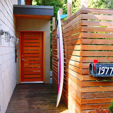 Eclectic Entry by Portal Design Inc