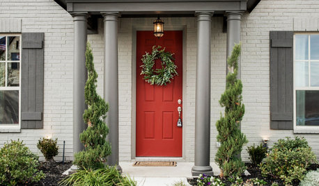 8 Front Doors That Are Dashing in Christmas Red