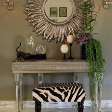 Eclectic Entry by Karina Oldemans Interior Design