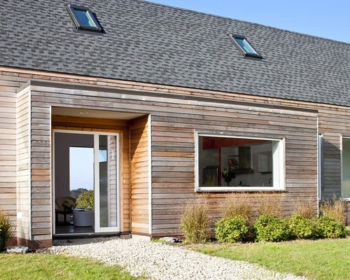 Gray shingle siding houzz for Cedar creek siding reviews
