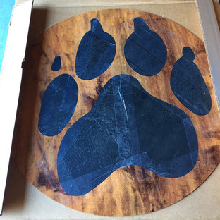 Paw Print - Custom Designed, Specially Made, LVT (Luxury Vinyl Tile)