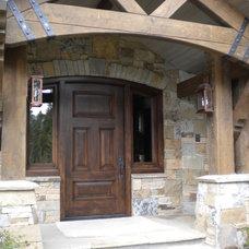 Rustic Entry by Rockridge Building Company