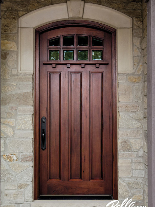 Gel Stained Pella Entry Doors Houzz