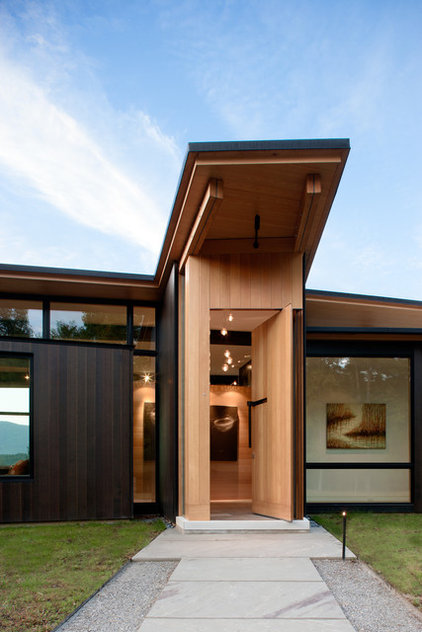 Modern Entry by Carlton Architecture