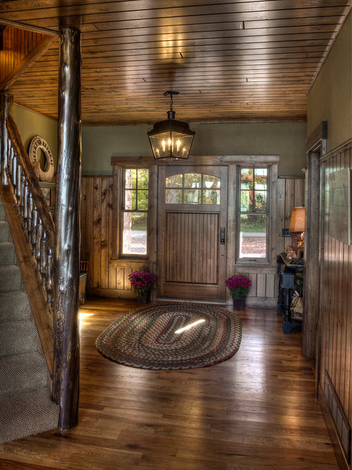Rustic Entry Foyer Lighting : Rustic entryway design ideas remodels photos with green