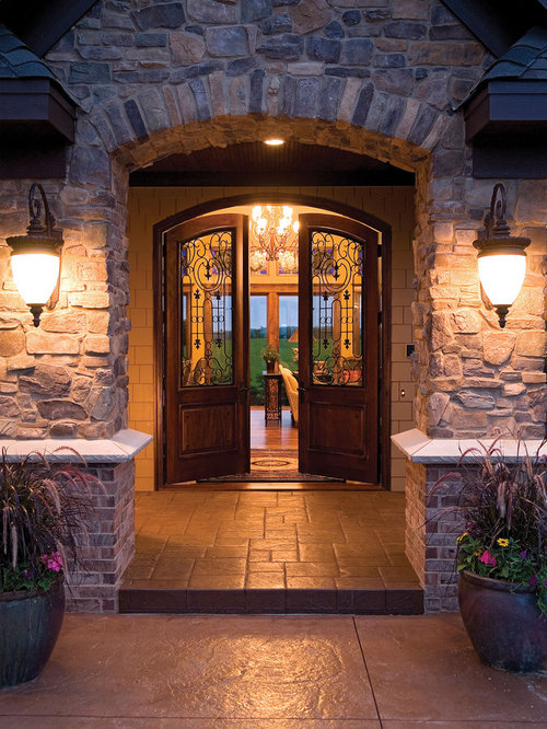 Arched Front Door Home Design Ideas Pictures Remodel And
