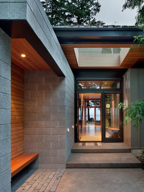 Split face concrete block home design ideas renovations for Split face block house