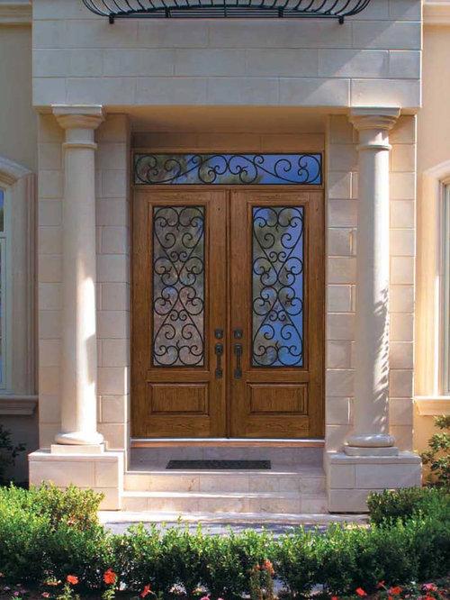 Wood Grain Fiberglass Doors Houzz