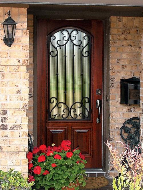 Mediterranean 8 Foot Fiberglass Doors Home Design Ideas
