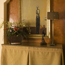Mediterranean Entry by Anne Rue Interiors