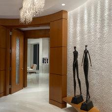 Contemporary Hall by alene workman interior design, inc