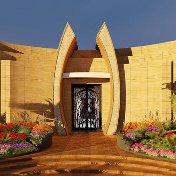 Private Luxury Villa Retreat Spa in the Dubai Desert Dunes