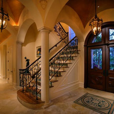 mediterranean entry by Harwick Homes