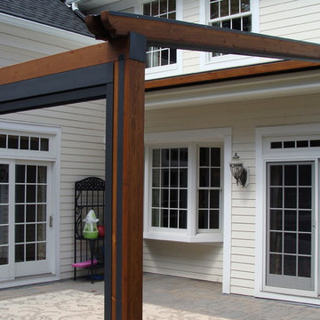 Private Residence, Northern NJ - Gennius Retractable Pergola Awning