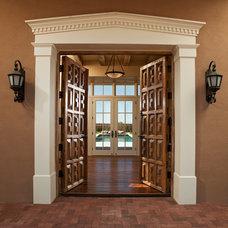 Mediterranean Entry by Woods Design Builders