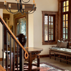 Rustic Entry by Snake River Interiors