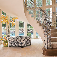 mediterranean entry by Cindy Aplanalp at By Design Interiors