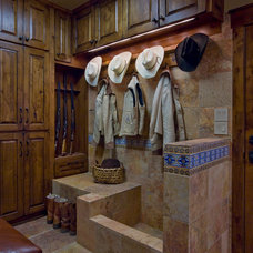 Rustic Entry by Linda McCalla Interiors