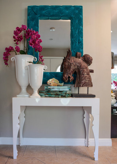Eclectic Entry by InsideStyle Home and Design