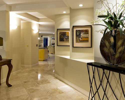 Amazing Inspiration For A Large Contemporary Marble Floor Foyer Remodel In San  Francisco With Beige Walls
