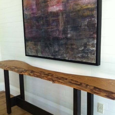 Contemporary Entry by Urban Tree Salvage