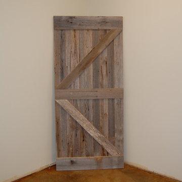 Reclaimed Gray Barn Board Sliding Door