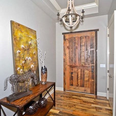 Eclectic Entry by Reclaimed Lumber Products