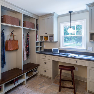 Inspiration for a transitional mudroom remodel in Minneapolis