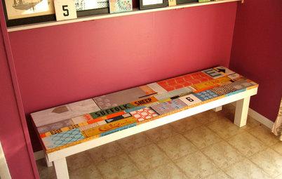 簡単DIY:木切れをつかって、アートなウッドベンチに!