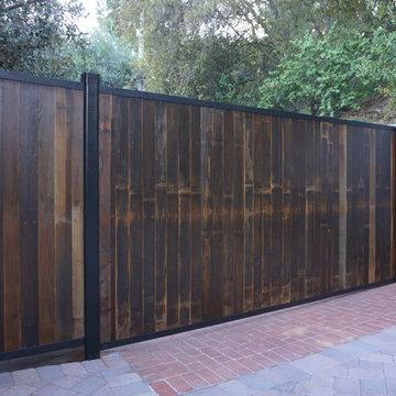 Reclaimed Wood Driveway Gate