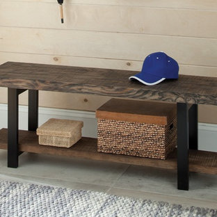 Reclaimed Wood Mudroom Bench